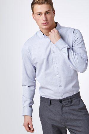 חולצת אוקספורד אלגנטי עם הדפס