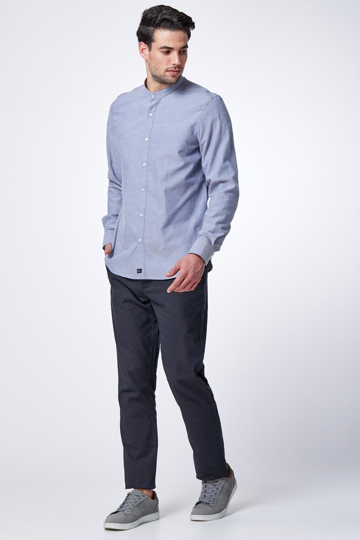 חולצת אוקספורד בסיס צווארון סיני