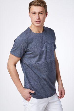 חולצת טי בד טקסטורת פסי רוחב