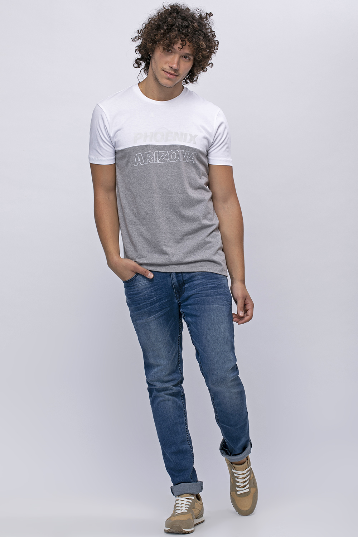 חולצת טי קולור בלוק