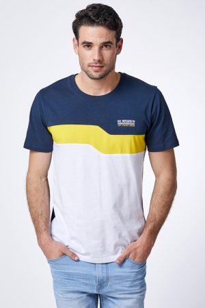 חולצת טי שילוב צבעים