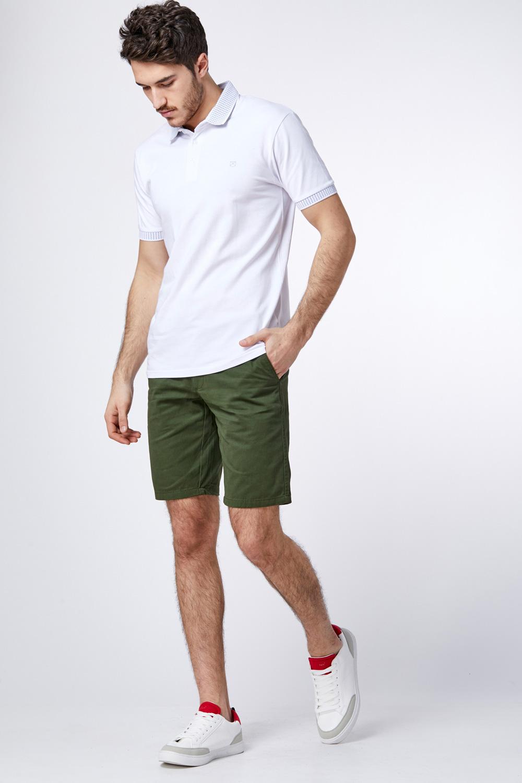 חולצת פולו לייקרה צווארון מיוחד