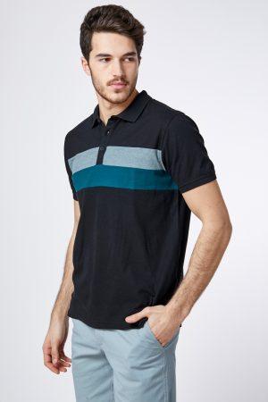 חולצת פולו פיקה  פסי חזה