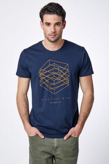 חולצת טי הדפס תלת מימד גרפי