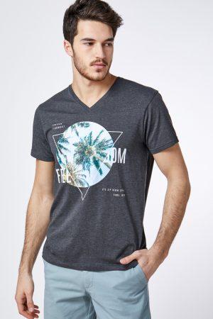 חולצת טי הדפס תמונת דקלים