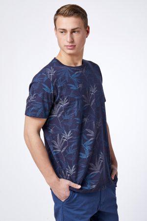 חולצת טי הדפס עלים