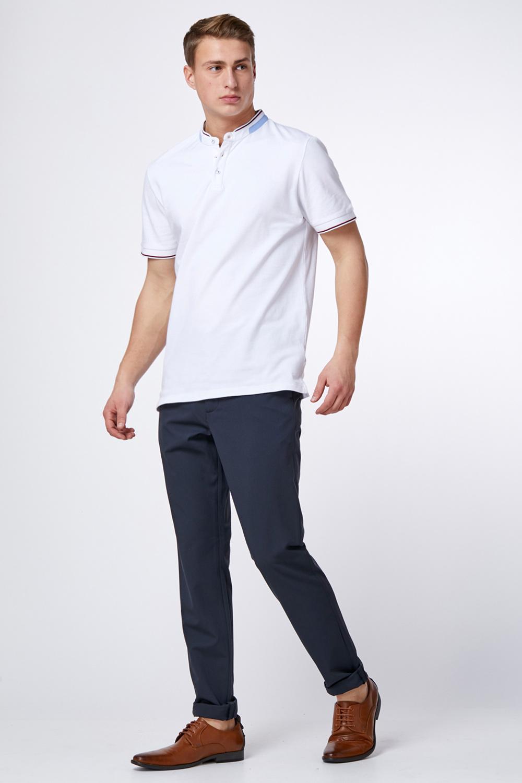 חולצת פולו פיקה לייקרה צווארון סיני מעוצב