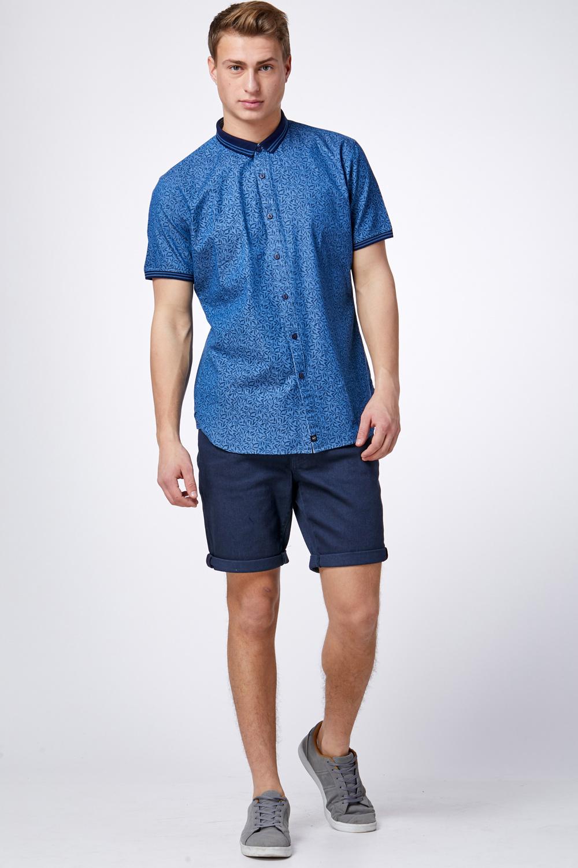 חולצת ג'ינס עם הדפס עלים