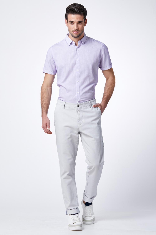 חולצת ג'קארד סגול בהיר