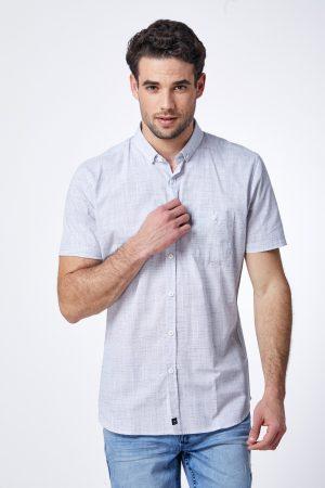 חולצת טקסטורה רוחבית עם כיס