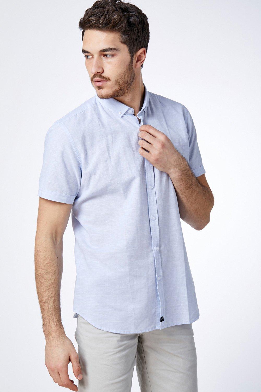 חולצת פשתן משבצות גריד