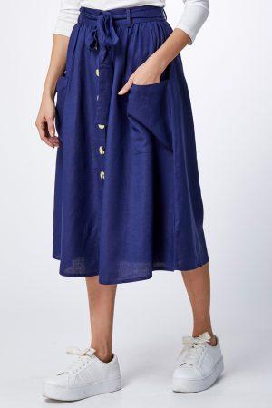 חצאית פשתן