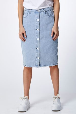 חצאית ג'ינס כפתורים
