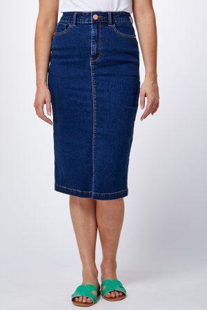 חצאית ג'ינס עפרון