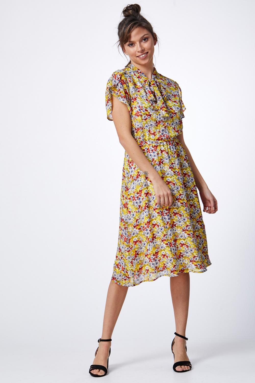 שמלת שיפון פרחונית
