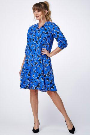 שמלת קומות מודפסת