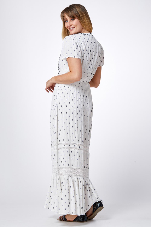 שמלת מקסי רקמה