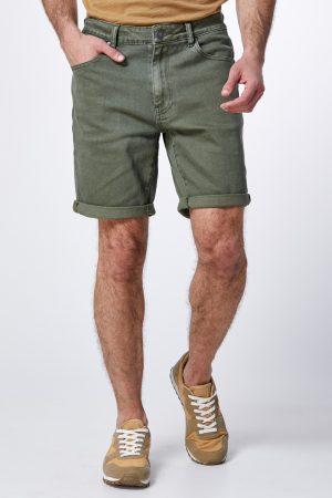 מכנס ברמודה ג'ינס צבוע
