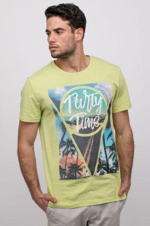 חולצת טי עם הדפס תמונה קייצי