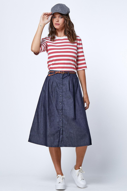 חצאית ג'ינס מידי