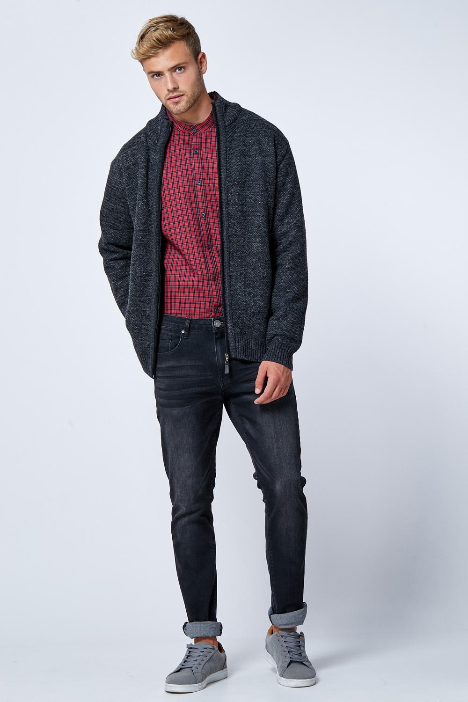 סוודר עבה בטנת פליז