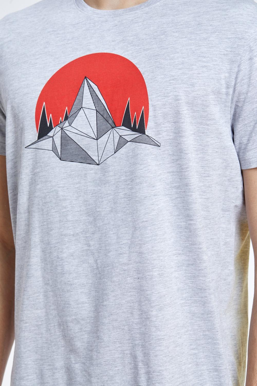 חולצת טי הדפס הרים