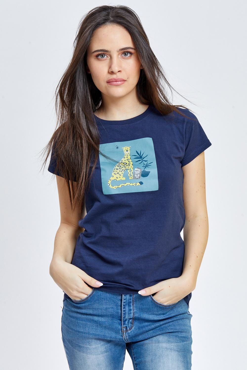 חולצת טי הדפס נמר משכיל