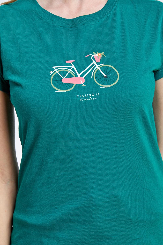 חולצת טי הדפס אופניים