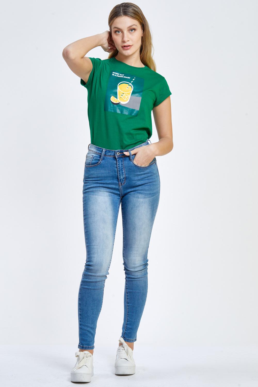 חולצת טי הדפס לימונדה