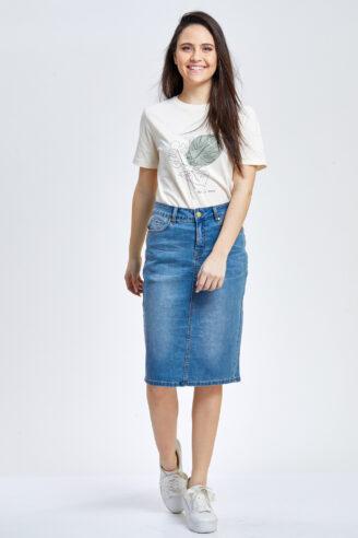 חצאית ג'ינס צרה קלאסית
