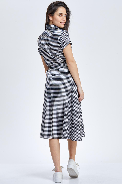 שמלת משבצות פיפטיז