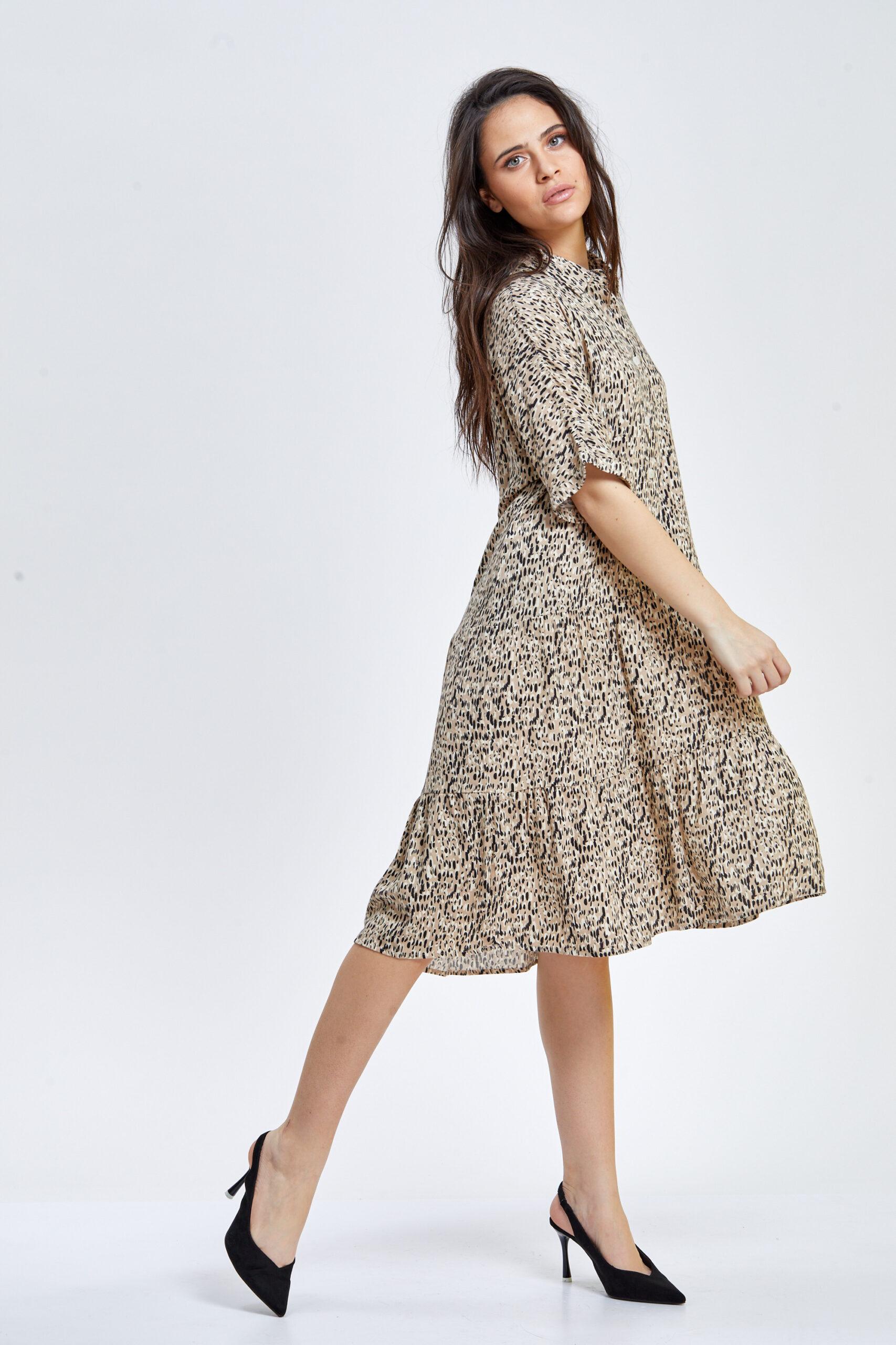 שמלת דפוס נמר משוחררת