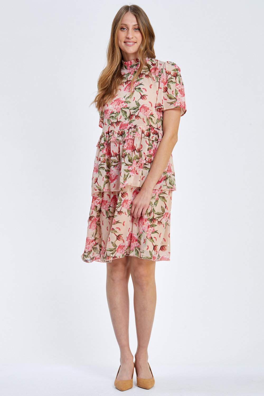 שמלת שיפון ורדרדה ורומנטית