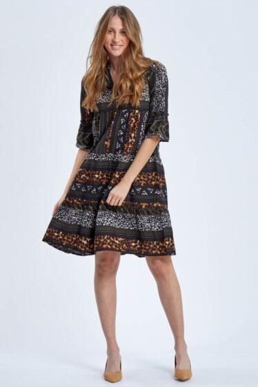 שמלת קומות דפוס אצטקי ומנומר