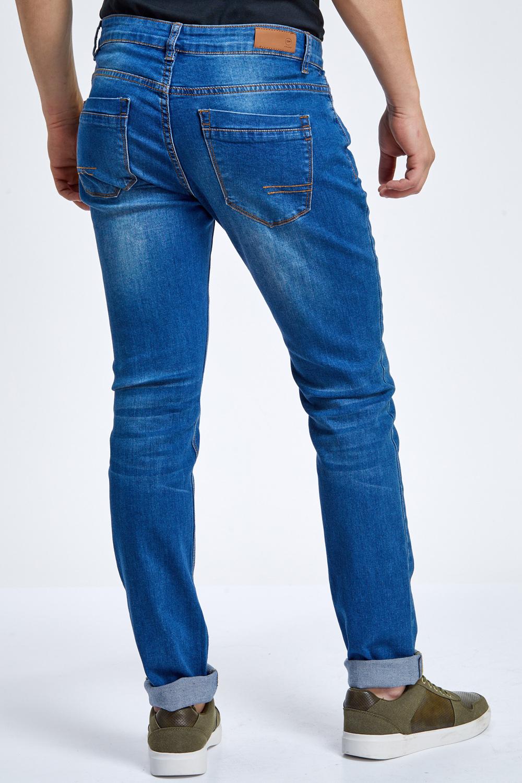ג'ינס כחול שטיפה עדינה גזרה צרה