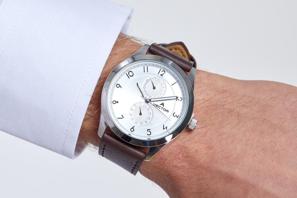 שעון יד Vector, רצועת עור