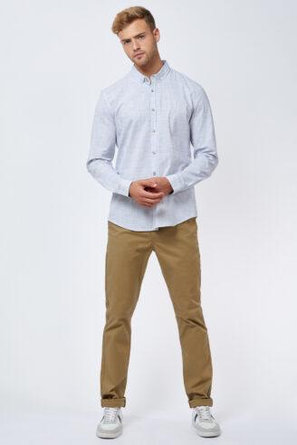 חולצה מכופתרת טקסטורת רוחב