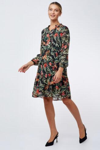 שמלת שיפון ספארי