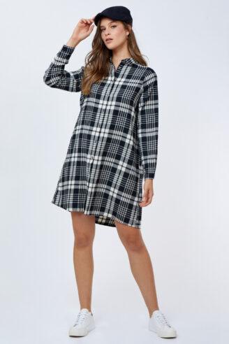 שמלת משבצות קצרה