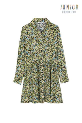 שמלת כפתורים פרחונית  ילדות/נערות