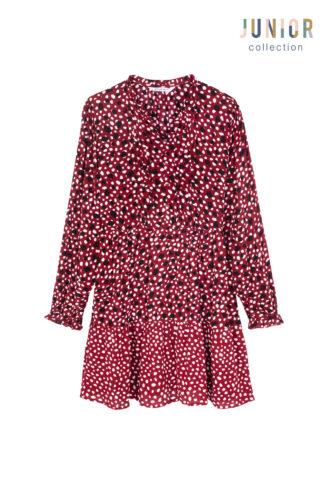שמלת עיגולים בשני דפוסים  ילדות/נערות