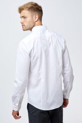 חולצת מכופתרת לייקרה גזרה צרה