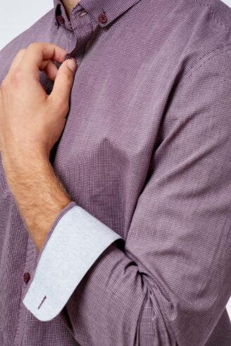 חולצה מכופתרת טקסטורת  GRID
