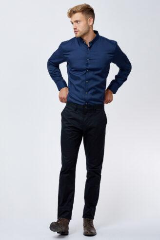 חולצה מכופתרת אלגנטית בכחול כהה