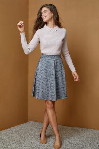חצאית דפוס משבצות