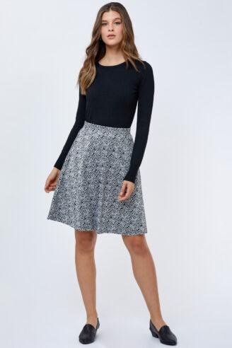 חצאית דפוס אתני