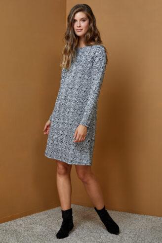 שמלת A מודפסת