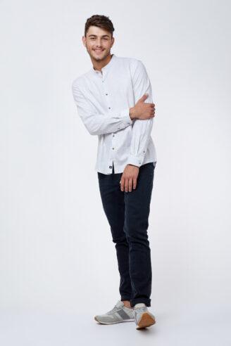 חולצה מכופתרת מלנש צווארון סיני