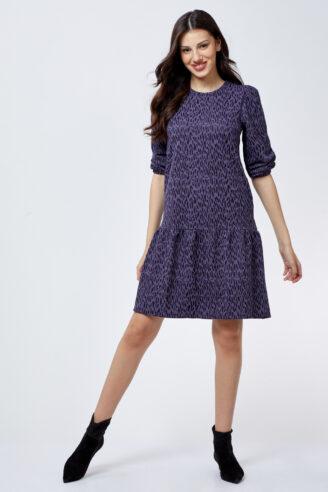 שמלת ז'קרד חייתית