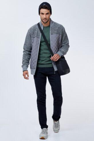 ג'ינס שחור חלק  בסיסי גזרה צרה